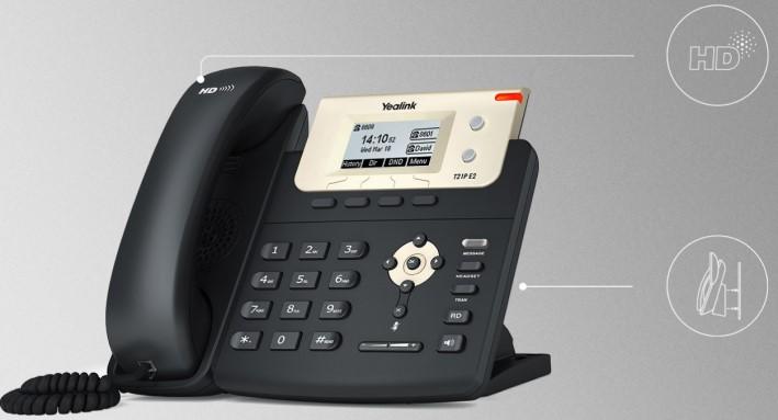 Điện thoại IP yealink T21-E2 hỗ trợ âm thanh HD