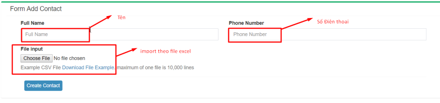 Auto call Bước 1 import danh sách khách hàng - Phần Mềm Tự Động Gọi Điện Thoại - Dịch Vụ Auto Call Cho Telesales