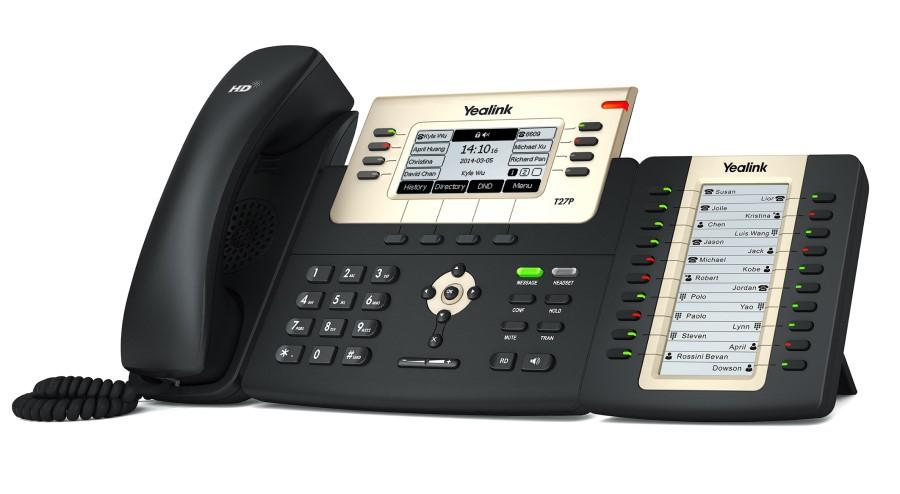 Điện thoại IP yealink T27G với bàn phím mở rộng EXT20