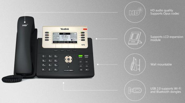 iện thoại IP yealink T27G 2 600x335 - Điện Thoại IP  Yealink T27G ( Tiếp Tân )