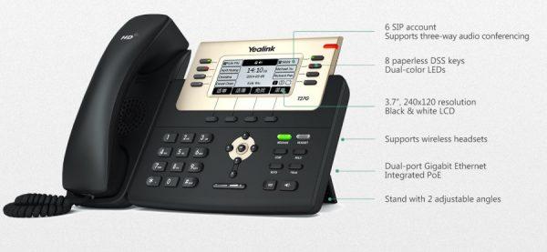 iện thoại IP yealink T27G 600x277 - Điện Thoại IP  Yealink T27G ( Tiếp Tân )