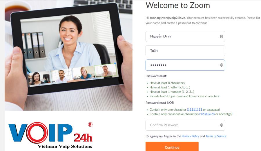 Thiết Lập Tài Khoản Zoom meeting