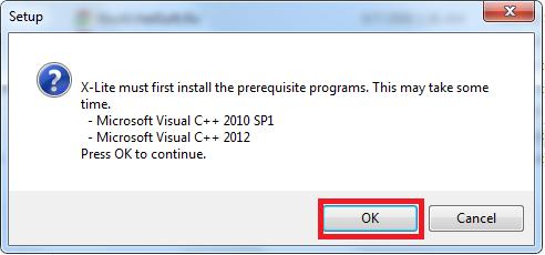 cài đặt các gói phụ thuộc của phần mềm X-lite