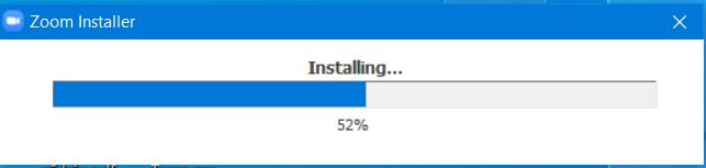 Đang cài đặt phần mềm.