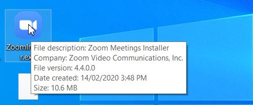 Chạy file cài đặt Zoom