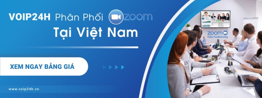 Voip24h phân phối chính thức Zoom cloud meeting ở Việt Nam