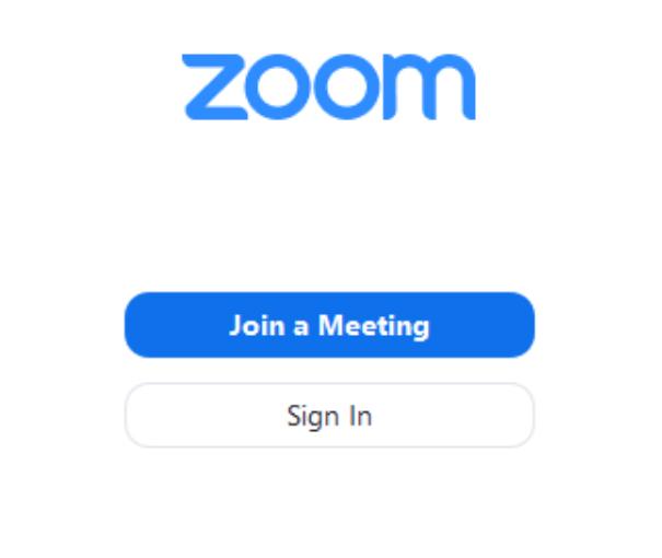 bấm vào Join A Meeting để tham gia cuộc hop