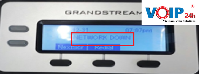 Mất kết nối mạng network down trên điện thoại grandstream GPX1610