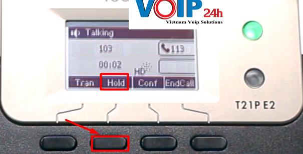 Tính năng giữ (hold ) cuộc gọi trên điện thoại yealink T21 E2