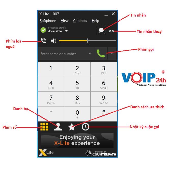 chức năng các phím điều hướng X-lite