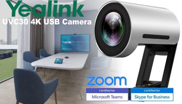Yealink UVC30 4K USB Camera Dubai 600x343 - CAMERA YEALINK UVC30-ROOM